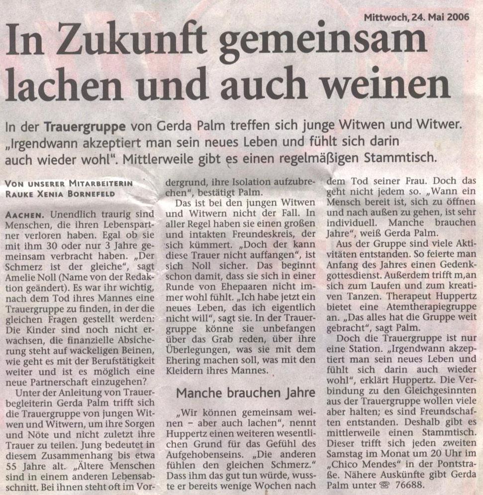 Aachener Zeitung - 24. Mai 2006